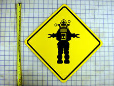 ROBBY THE ROBOT (FORBIDDEN PLANET) YELLOW ALUMINUM SIGN