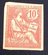 France N° 124 10 C Rose Tirage Sur Bristol Toujours Sans Gomme TB Pièce Côté 350