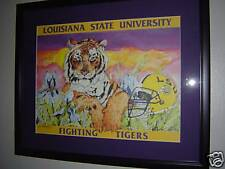 MICHAEL HUNT LSU TIGERS ARTIST PROOF PRINT REMARQUE