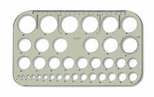 Kreisschablone von 4 - 40 mm Kreisdurchmesser Lochkreisschablone Schablone