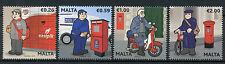 Malta 2017 MNH Postal Uniforms 4v Set Postal Services Cars Post Boxes Stamps