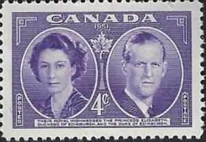 Canada  # 315    ROYAL VISIT    Brand New 1951  Original Pristine Gum