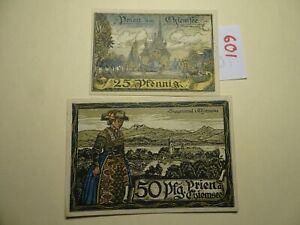 NOTGELD GERMANY 25/50 pfennig - PRIEN-  AU/UNC