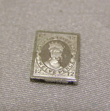 SOLID SILVER STAMP CANADA 1851 12-PENCE QUEEN VICTORIA