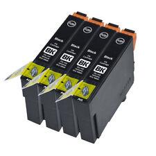 4 Negro compatible con E1291, cartuchos de impresora de inyección de tinta para T1291 C13T1291410 Nuevo