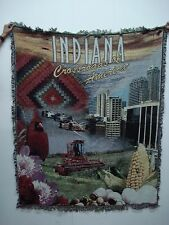 NIB Mill Street Design Indiana Crossroads Tapestry Throw Blanket Afghan #222