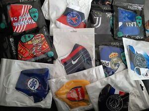 Masque Lavable UNITED PSG DORTMUND INTER ARSENAL BAYERN REAL CHELSEA JUV BARCA