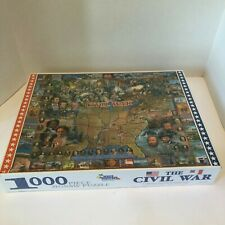Vintage Civil War 1000 piece Jigsaw puzzle White Mountain Shrinkwrapped HPZ-CVL