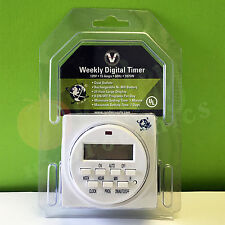 Cap Valuline Weekly Digital Timer 120v Programmable 15 amps Dual 1min On/Off
