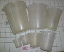 7 Lab Beaker Set Graduated 1530100150250400600 Ml Maryland Plastic X46 2
