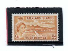 Falklands Islands QE2 1955-57 9d. orange-yellow sg 191 VLH.Mint