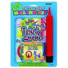 BALLOON KIT TWIST & SHAPE INST. BOOK, PUMP & 20 PCS 260Q QUALATEX BALLOONS TYING
