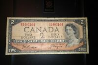 1954 Devil's Face $2 Dollar Bank of Canada Banknote HB1403164