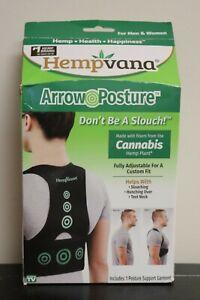 Hempvana Arrow Posture Fully Adjustable Custom Support for Men & Women Sz L/XL