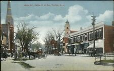 Tilton NH Main St. From PO Square c1910 Postcard
