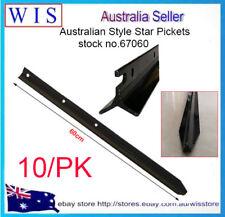 10 x Star Pickets Ultra Star Picket Post,Black,POST FENCE STEEL 600mm -67060