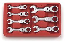 Gearwrench 7 piezas SAE Stubby Flexible Cabeza Trinquete Llave Conjunto de 9570