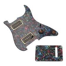 3PLY Prewired Loaded Pickguard Guard HH01+Back Cover for Electric Guitar New