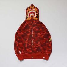 Unisex Bape Japan Flash drilling Tiger Head Design Zipper Jacket 4Colors Hoodie