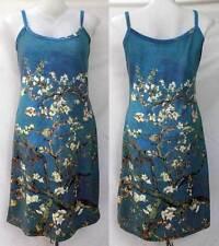 Van Gogh Almond Branches in Bloom Floral ART Print Tank Dress Sz M Medium D1817