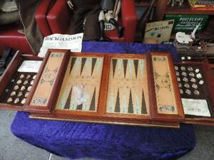Vintage Franklin Mint Limited Edition Excalibur Backgammon Set 1986 King Arthur