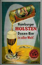 panneau métallique HOLSTEN boîtes bière Hamburg brasserie Plaque rétro PUB