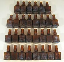 Lot 30 Antique Mini Whiskey Bottles Mount Vernon Cook & Bernheimer 1.5 oz Amber