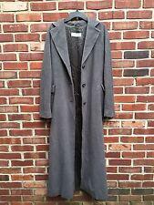 MAX MARA Gray Wool Button Long Over Coat Jacket Duster ITALY US 10 RARE*