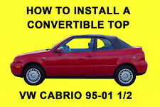 VW Cabrio 95-01 1/2 How to Install a Convertible Top DIY Video on DVD