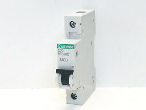 CRABTREE C20 6FS20C 6KA 230-400V MCB TYPE C Brand New