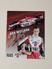 Autographed DAN WHELDON Signed 8X10 Indy Photo Hero Card - Klein Tools Racing