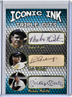 Babe Ruth Lou Gehrig Mickey Mantle Iconic Ink Facsimile Autograph Edition .