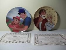 """Lot Of 2 """"A Father'S Love"""" Knowles Collector Plates Batter Up &Little Shaver Nib"""