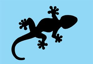"Gecko Vinyl Decal Sticker Car Windows Walls Laptops 6"" x 4"" two pieces"