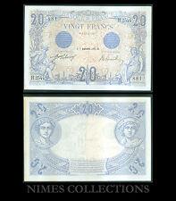 BILLET DE 20 FRANCS  BLEU  DATE 30-SEPTEMBRE-1912 ETAT: SUP  N° H.2544