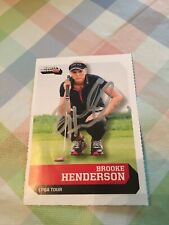Brooke Henderson Autographed Golf Card