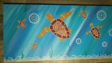 Aboriginal art paintings original 100x50 CM Turtles