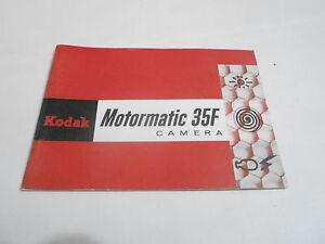 1950s/1960s CAMERA manual #21 - KODAK MOTORMATIC 35F