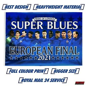 Chelsea Champions Flag European Cup Winners 2021 Large 5ft x 3ft