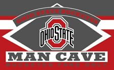OHIO STATE BUCKEYES MAN CAVE 3' x 5'  FLAG/BANNER-US SELLER-$1 SHIPPING