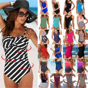 Women Sexy Swimsuit Monokini Push Up One Piece Swimwear Bathing Beachwear