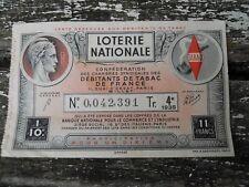 1938 billet de loterie nationale Débitants de Tabac de France 4e tranches