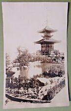 PAGODA BERNHEIMER GARDEN JAPAN JAPANESE Vintage Photo Postcard Hollywood CA RPPC