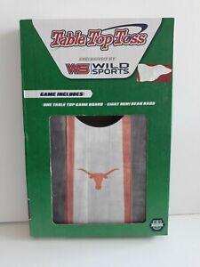 NEW, Texas Longhorns, Table Top Toss - Corn Hole game, Wood, 8 bean bags