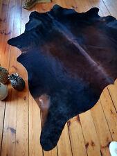 Außergewöhnliches Kuhfell in mahagoni/schwarz, NEU, Rinderfell, Kuhfellteppich