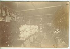Vintage Late 1800s -1900s B&W Photo of Interior of Furniture Store