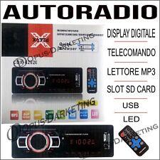 STEREO PER AUTO AUTORADIO TELECOMANDO LETTORE MP3 USB SD CARD DISPLAY DIGITALE
