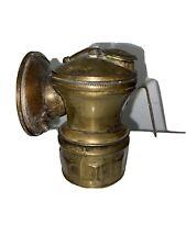 Vintage Auto Lite  Carbide Miner Lantern Universal Lamp Co. Chicago USA Brass