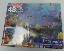 Melissa & Doug Underwater Fish 48 Piece Floor Puzzle Ocean Whale Scene Sealed