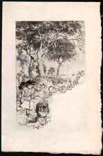 Auguste Lepère. Menu pour les Cent Bibliophiles. Eau-forte. 1908